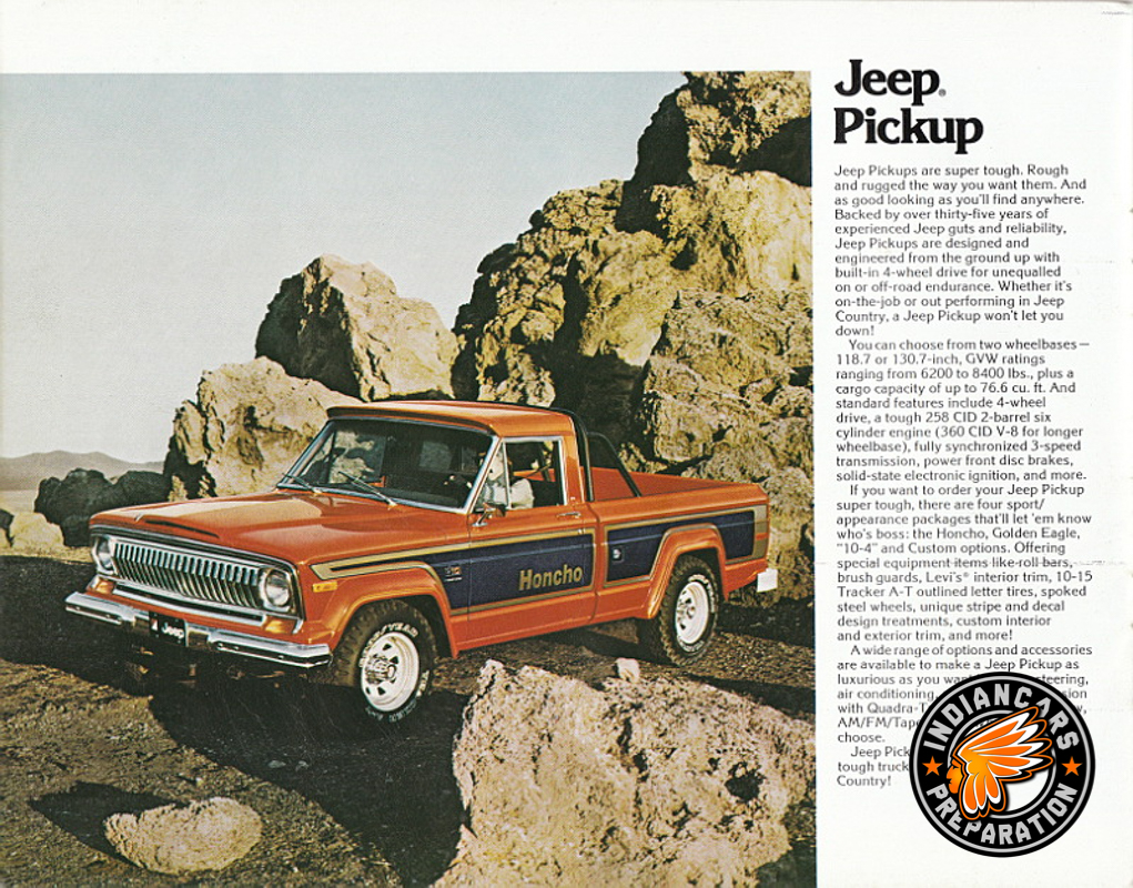 Jeep Pick up Indiancars V8