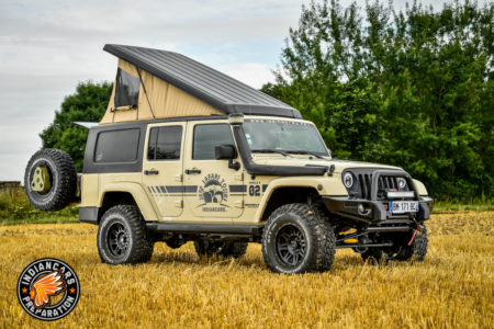 Jeep Wrangler cellule et remorque preparation